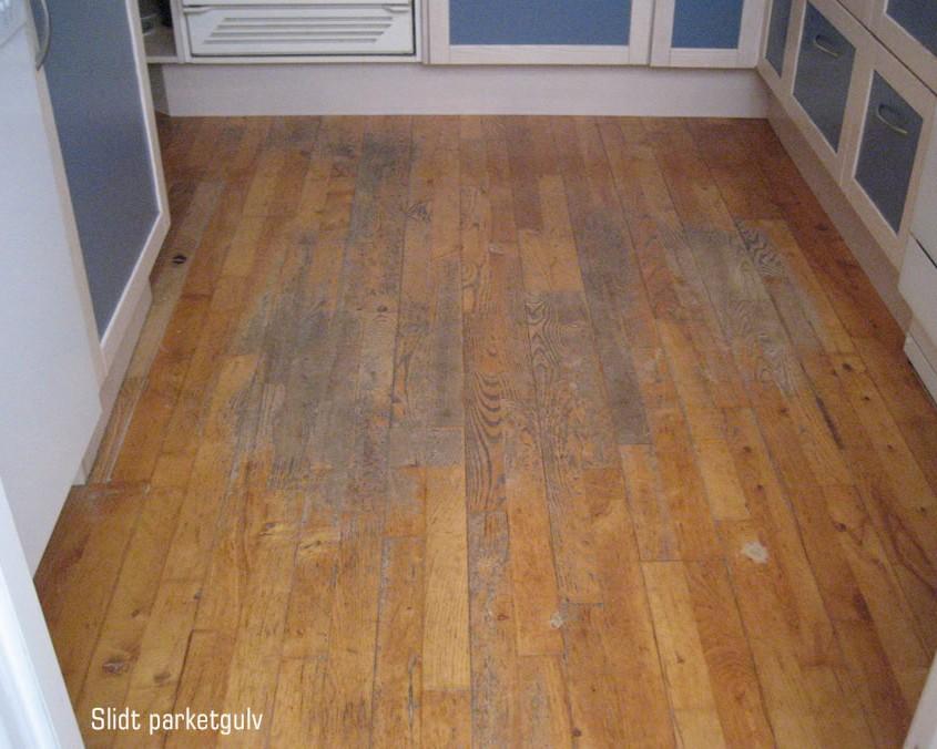 afslibning før og efter gulvbilleder