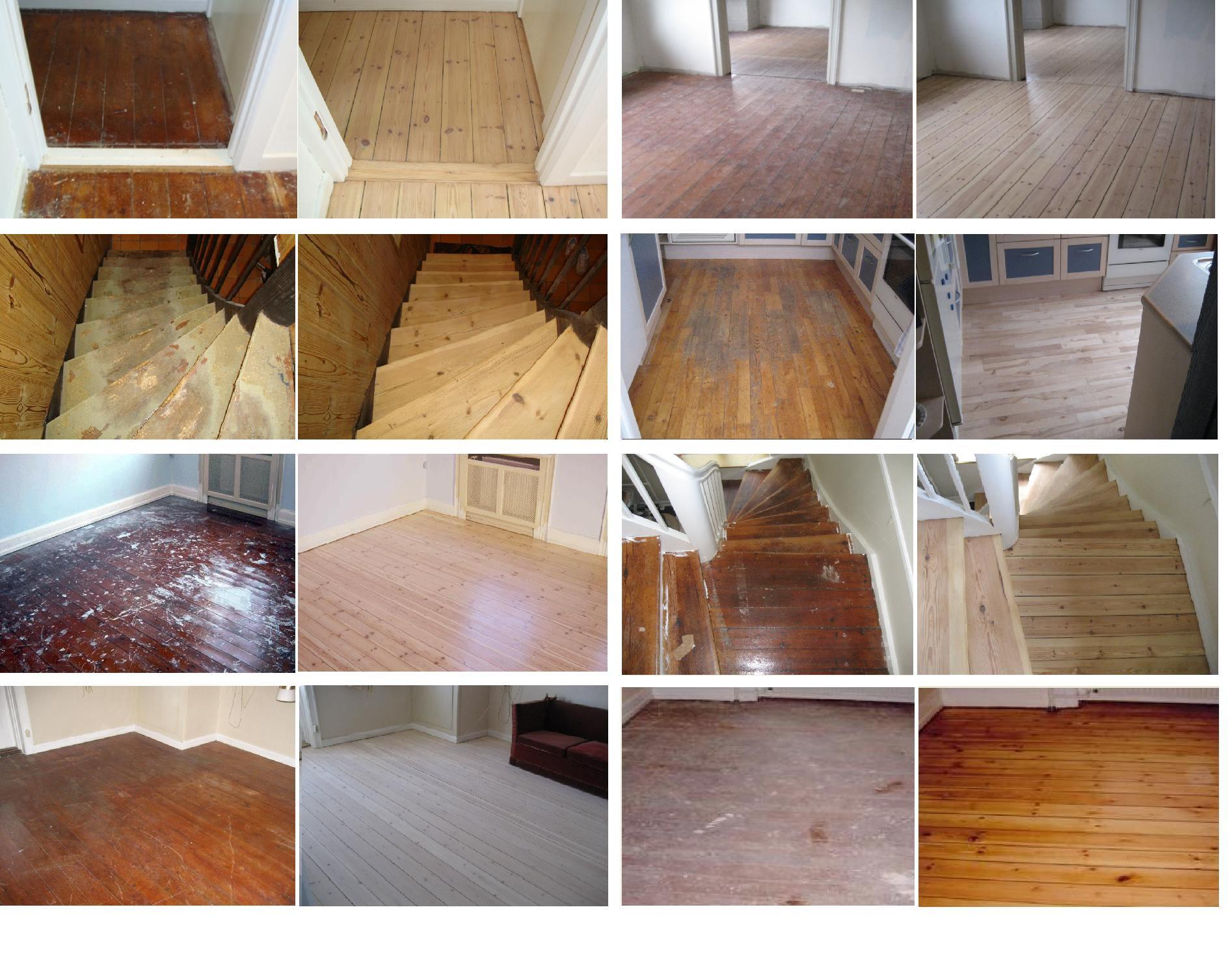 Eksempler på gulvafslibninger